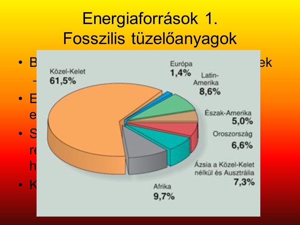 Energiaforrások 1. Fosszilis tüzelőanyagok