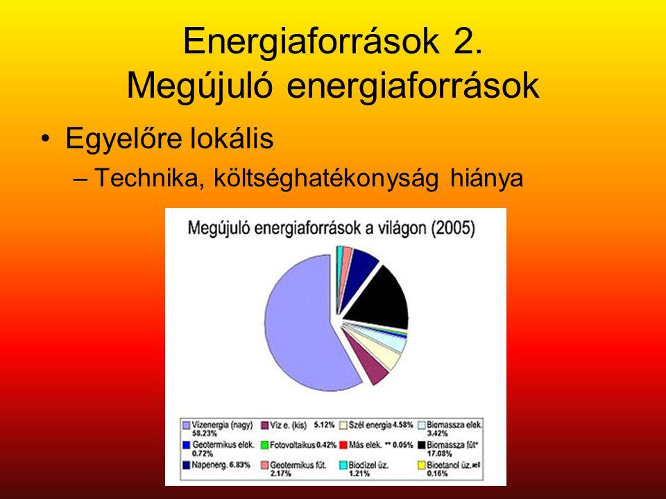Energiaforrások 2. Megújuló energiaforrások