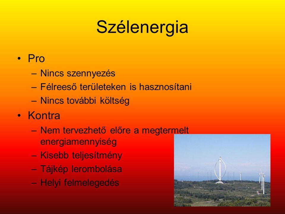 Szélenergia Pro Kontra Nincs szennyezés
