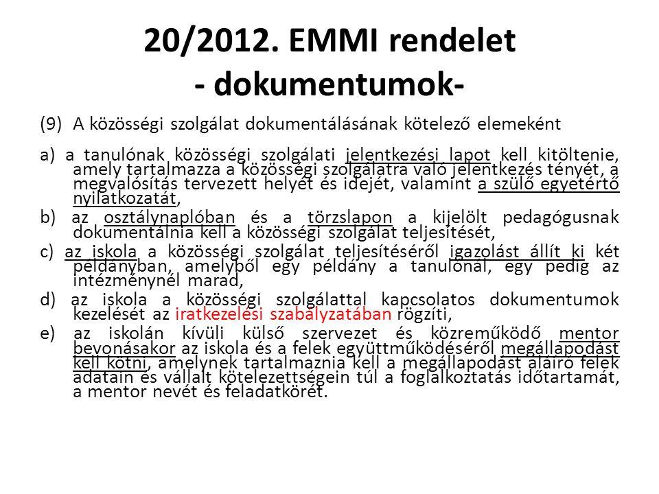 20/2012. EMMI rendelet - dokumentumok-