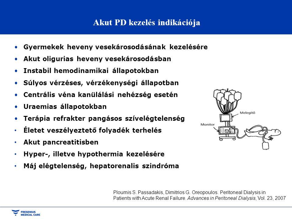 Akut PD kezelés indikációja