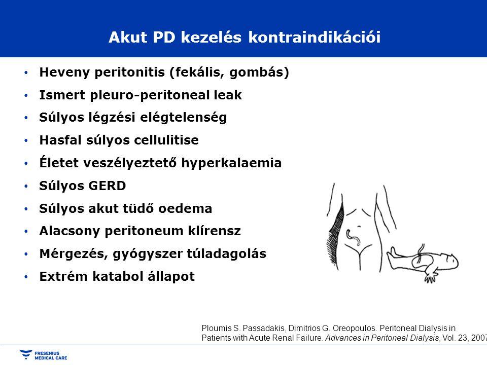 Akut PD kezelés kontraindikációi