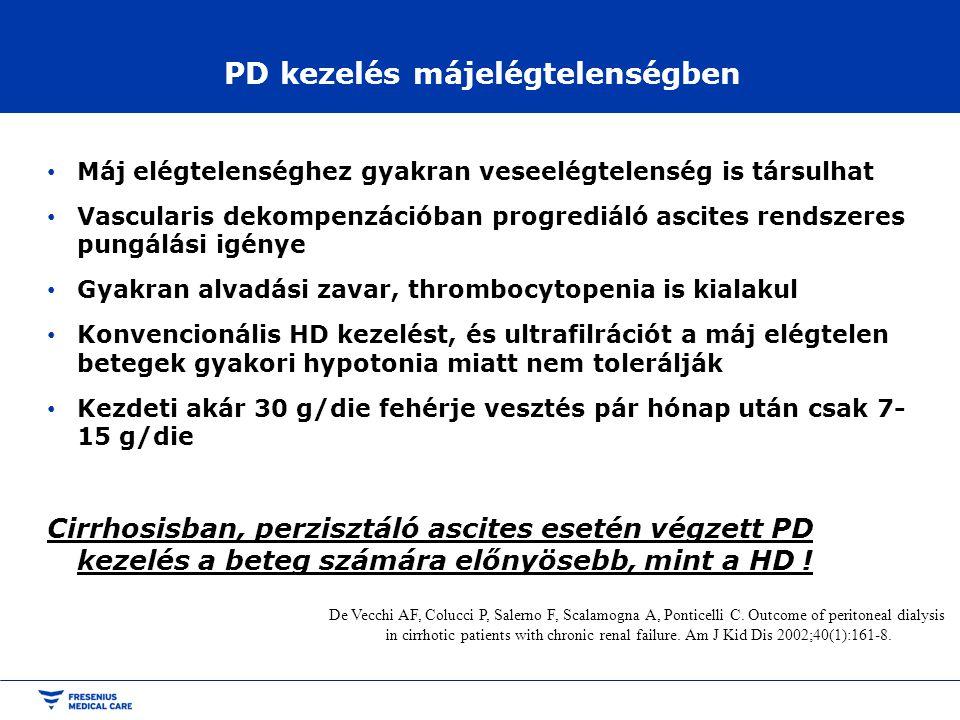 PD kezelés májelégtelenségben