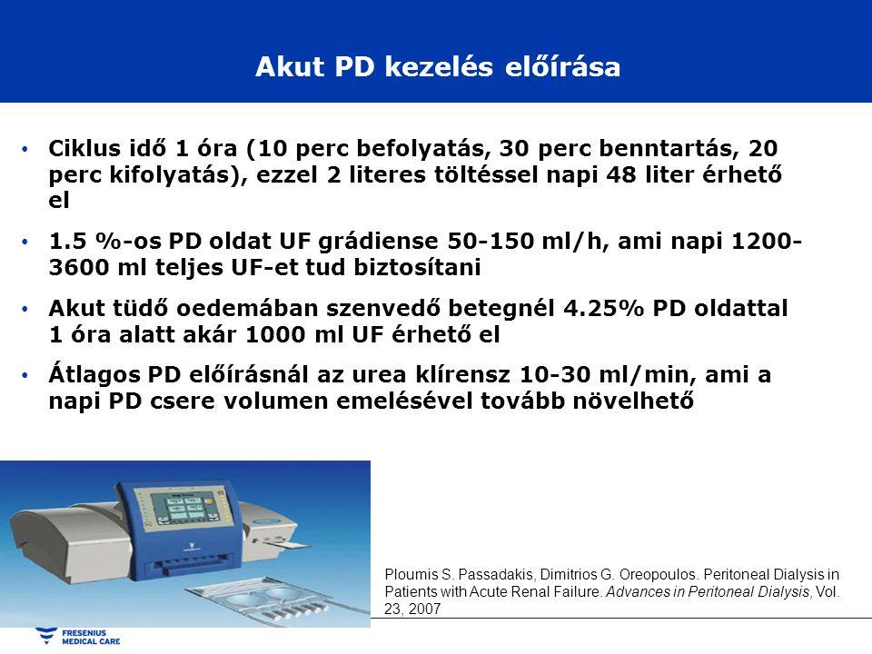 Akut PD kezelés előírása