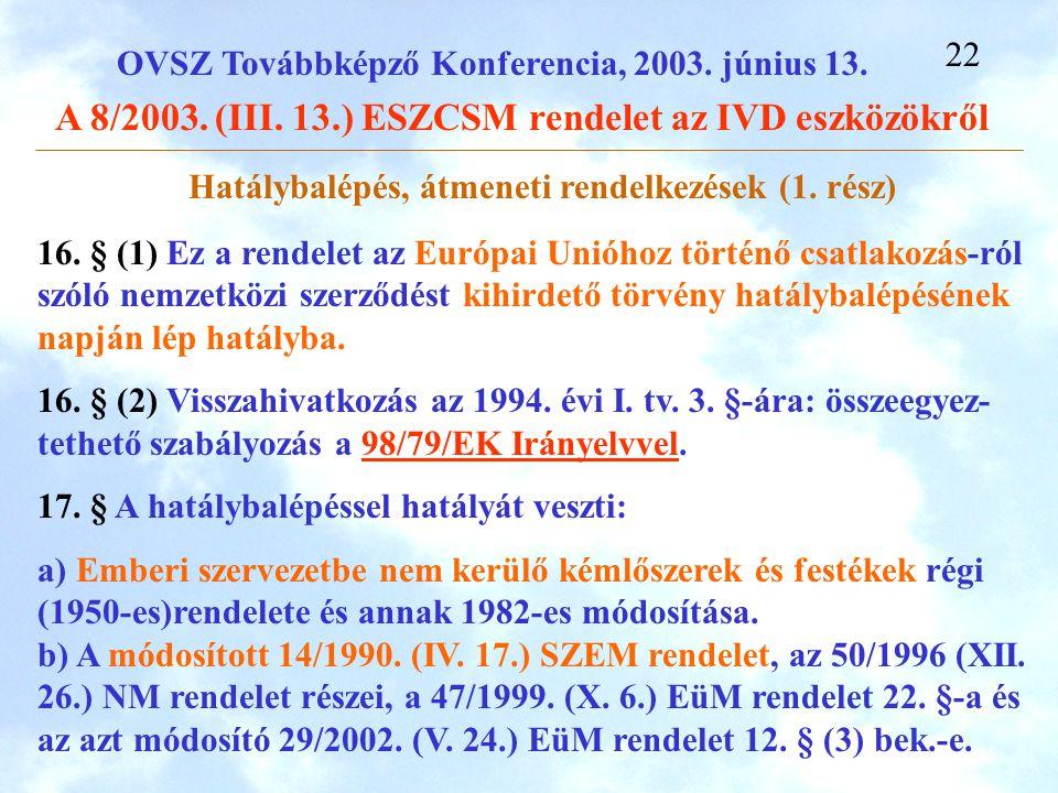 Hatálybalépés, átmeneti rendelkezések (1. rész)