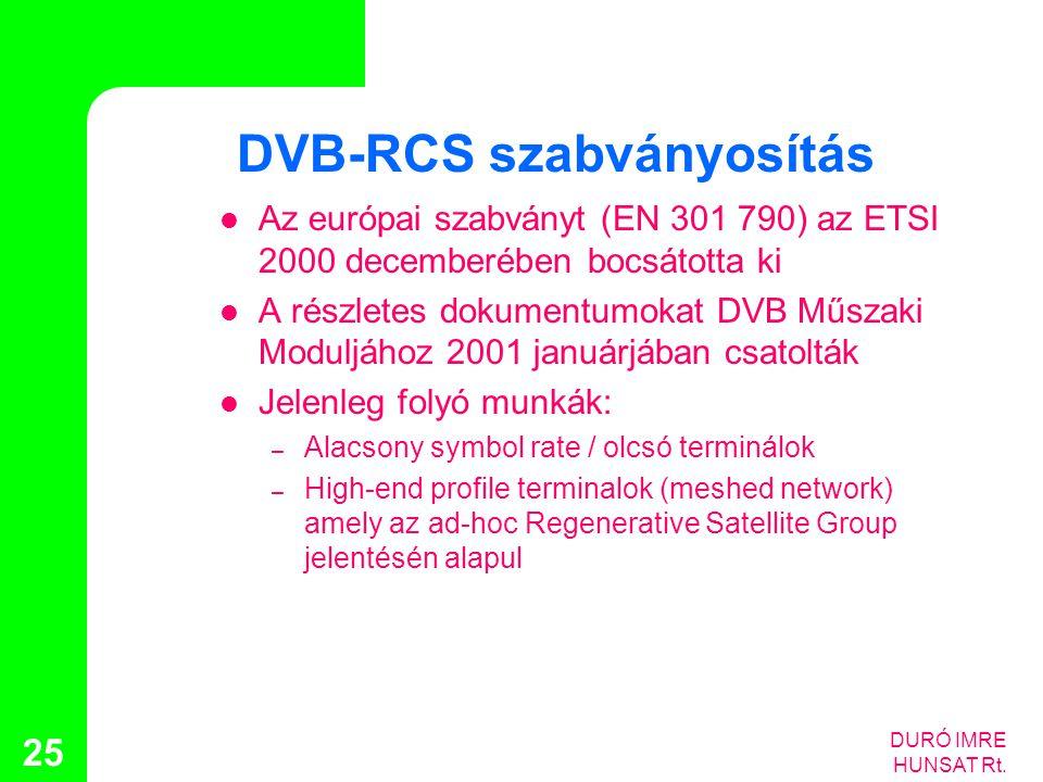 DVB-RCS szabványosítás