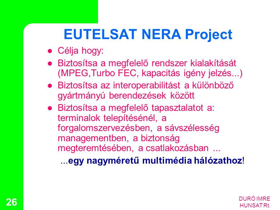 EUTELSAT NERA Project Célja hogy: