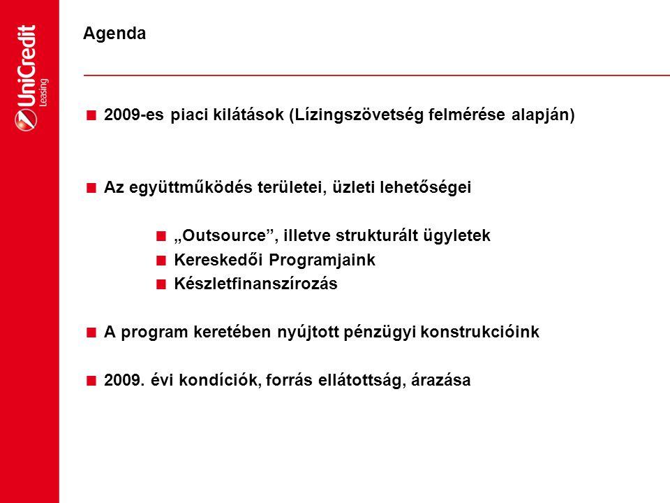 Agenda 2009-es piaci kilátások (Lízingszövetség felmérése alapján)