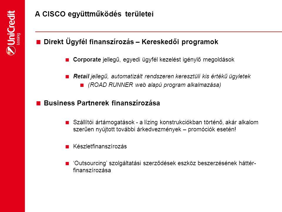 A CISCO együttműködés területei