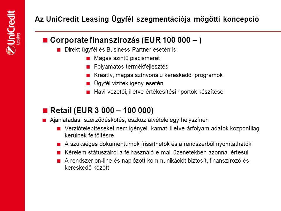 Az UniCredit Leasing Ügyfél szegmentációja mögötti koncepció