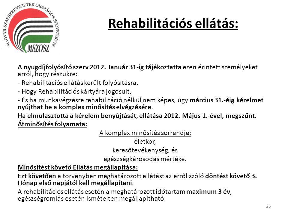 Rehabilitációs ellátás: