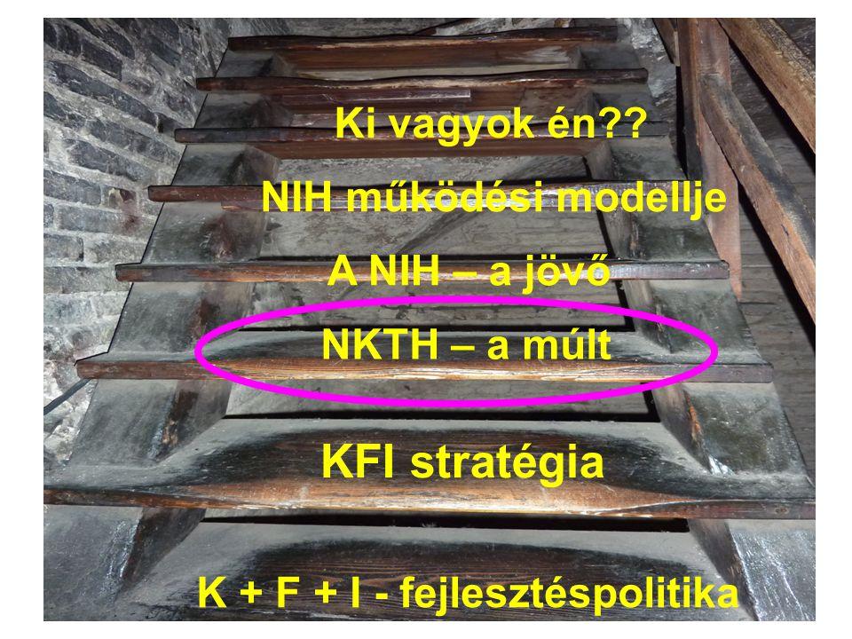 KFI stratégia Ki vagyok én NIH működési modellje A NIH – a jövő