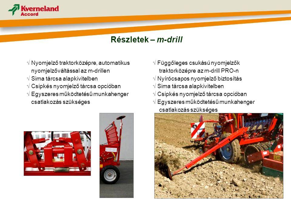 Részletek – m-drill √ Nyomjelző traktorközépre, automatikus