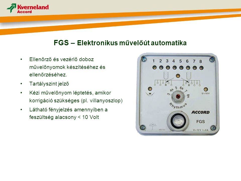FGS – Elektronikus művelőút automatika