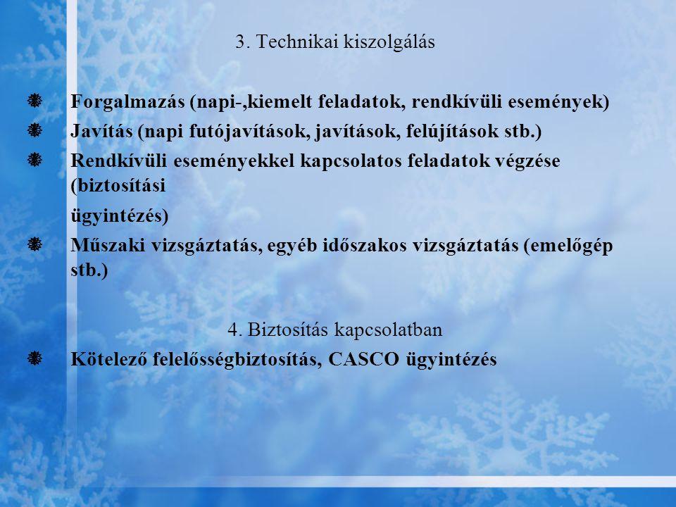3. Technikai kiszolgálás