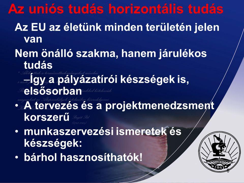 Az uniós tudás horizontális tudás