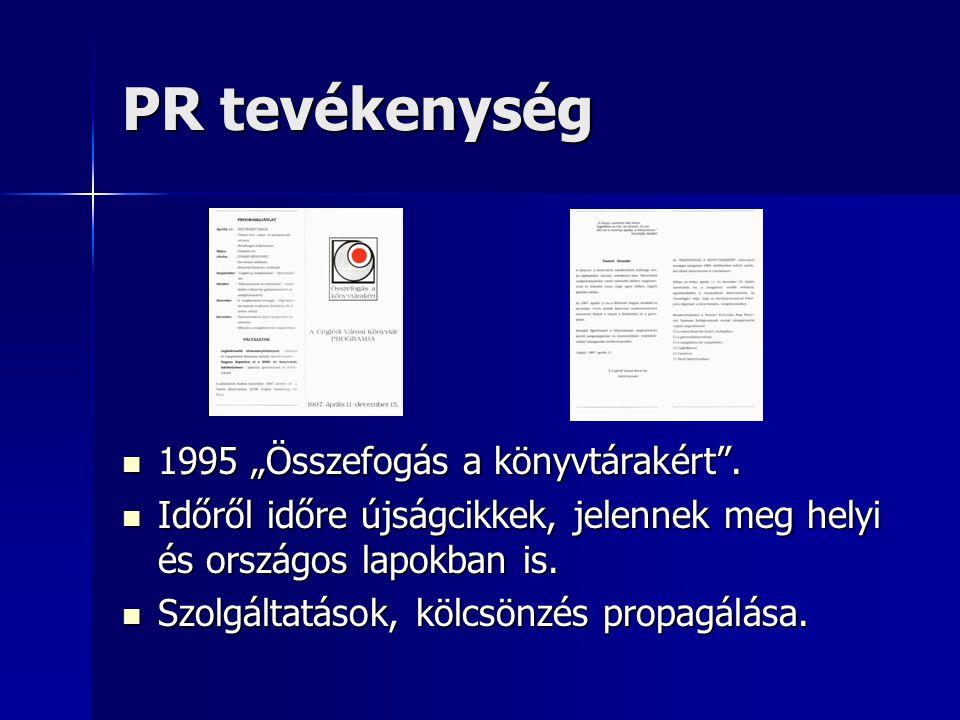 """PR tevékenység 1995 """"Összefogás a könyvtárakért ."""