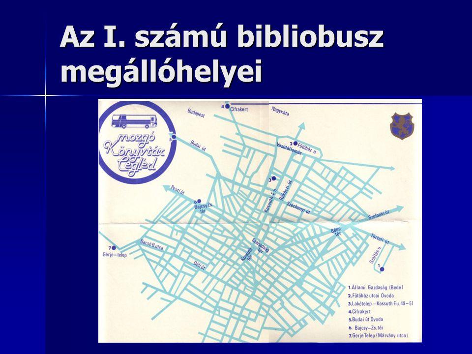 Az I. számú bibliobusz megállóhelyei