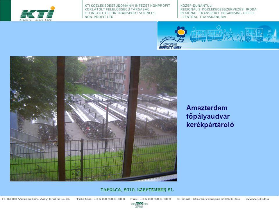 Amszterdam főpályaudvar kerékpártároló