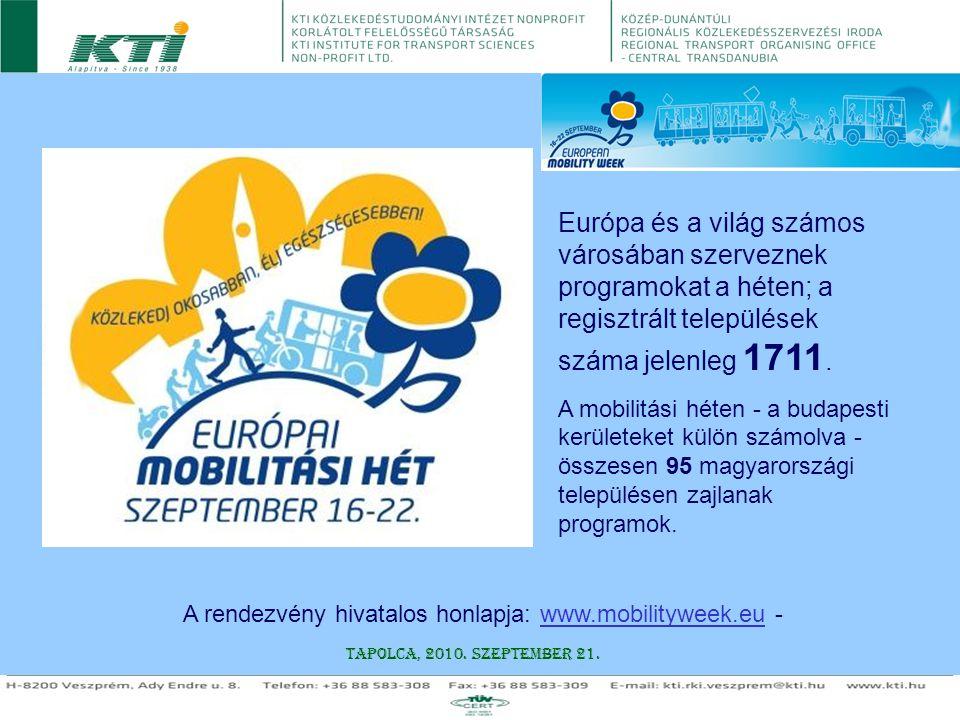 A rendezvény hivatalos honlapja: www.mobilityweek.eu -
