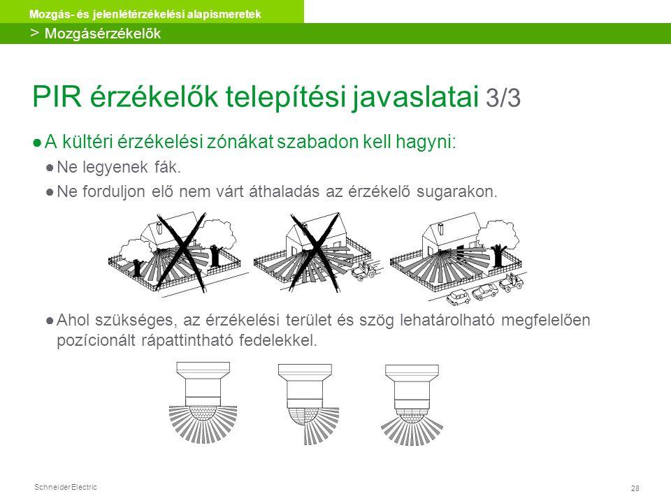 PIR érzékelők telepítési javaslatai 3/3