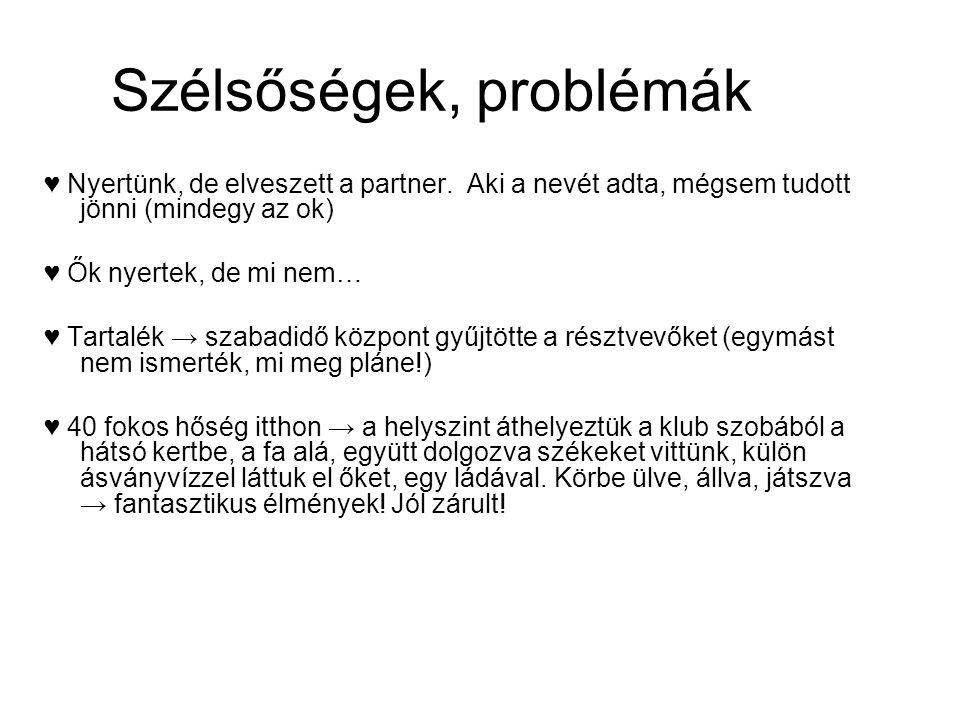 Szélsőségek, problémák