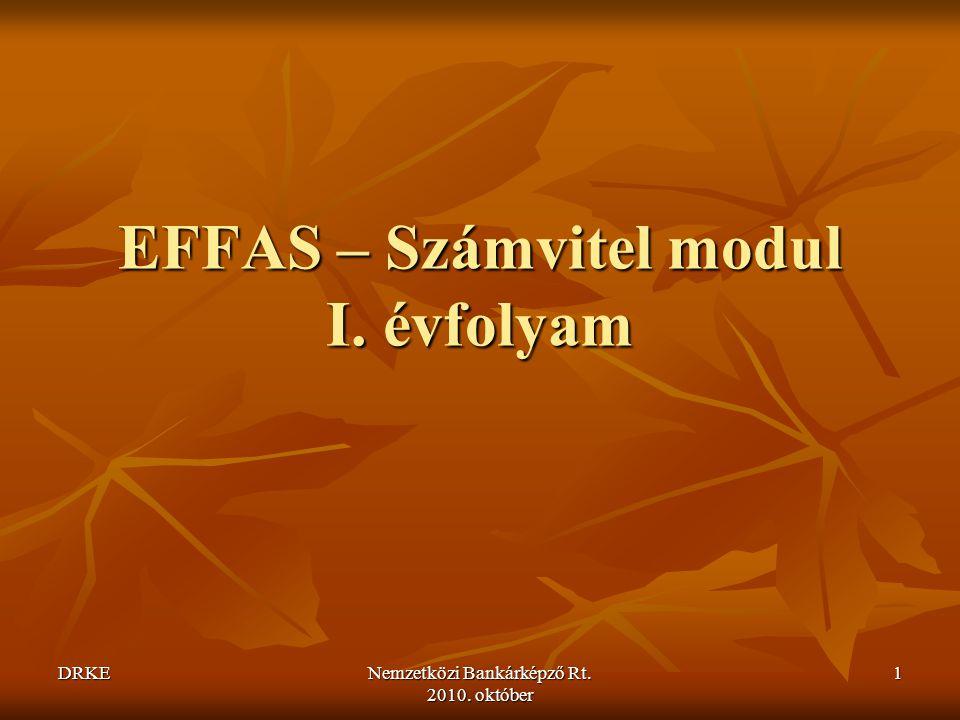 EFFAS – Számvitel modul I. évfolyam