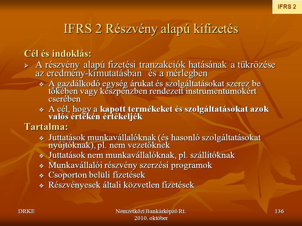IFRS 2 Részvény alapú kifizetés