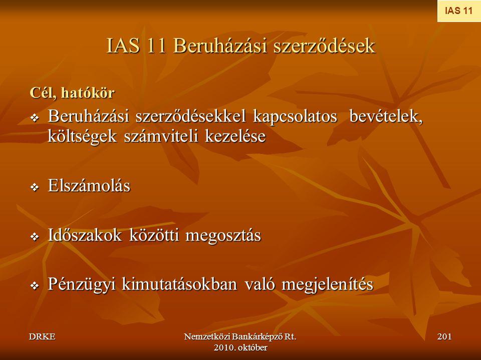 IAS 11 Beruházási szerződések