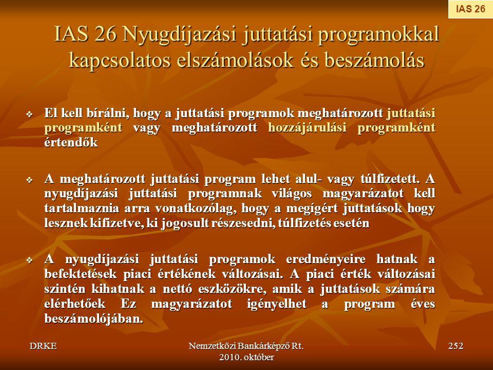 Nemzetközi Bankárképző Rt. 2010. október