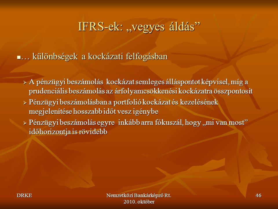 """IFRS-ek: """"vegyes áldás"""