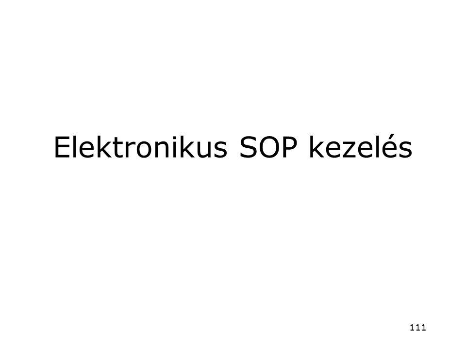 Elektronikus SOP kezelés
