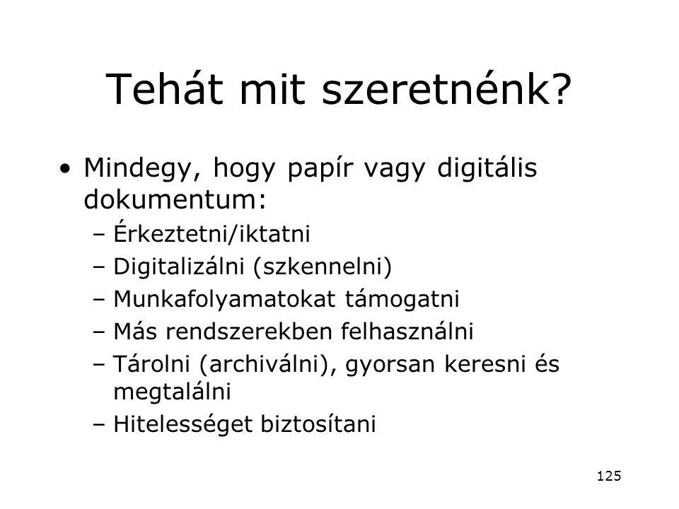Tehát mit szeretnénk Mindegy, hogy papír vagy digitális dokumentum: