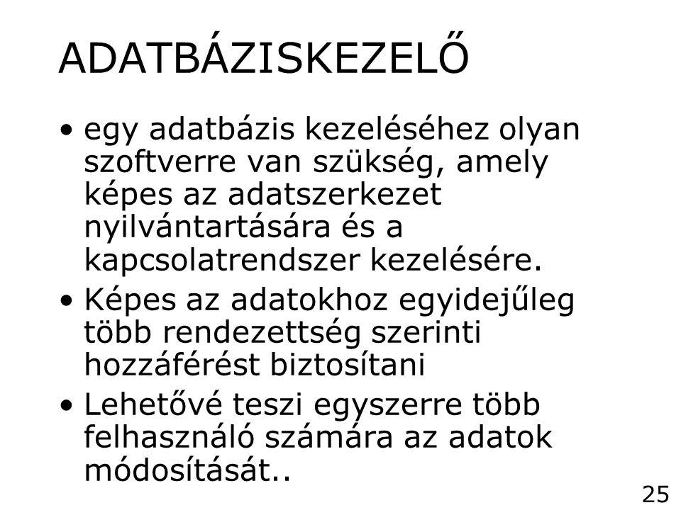 ADATBÁZISKEZELŐ