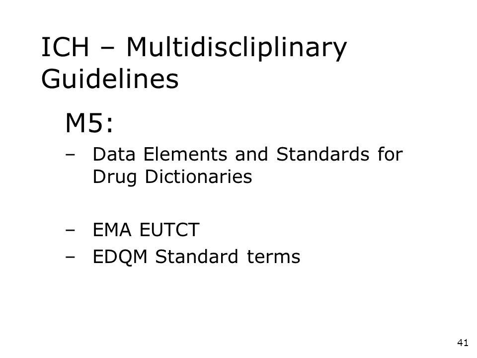ICH – Multidiscliplinary Guidelines