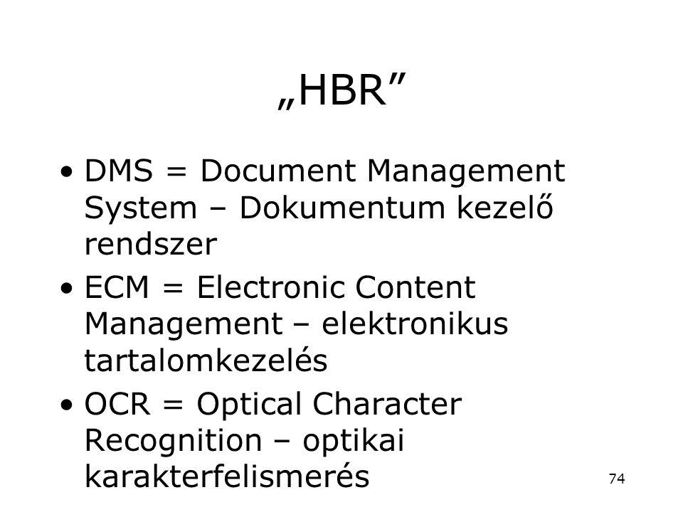 """HBR DMS = Document Management System – Dokumentum kezelő rendszer"