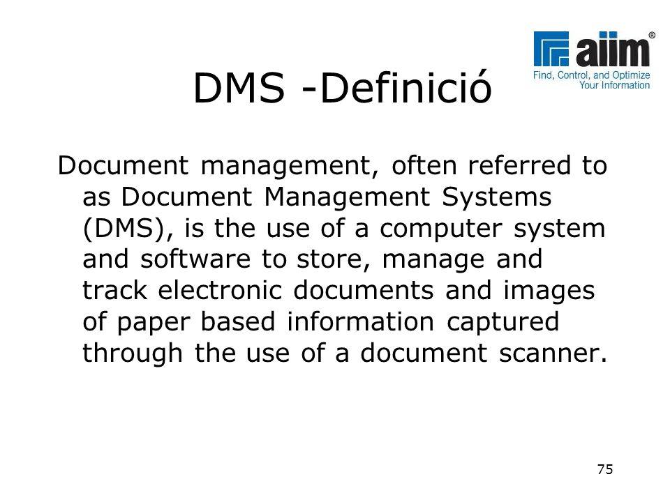 DMS -Definició