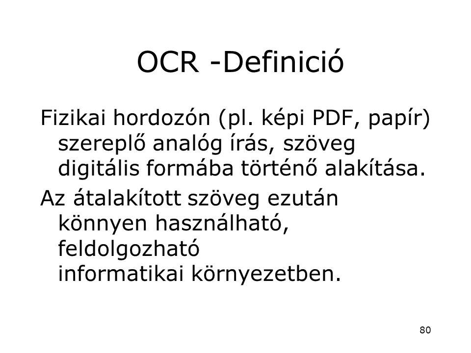 OCR -Definició