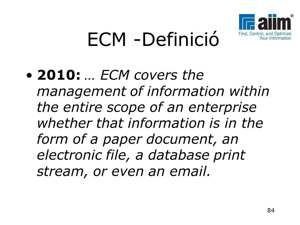 ECM -Definició