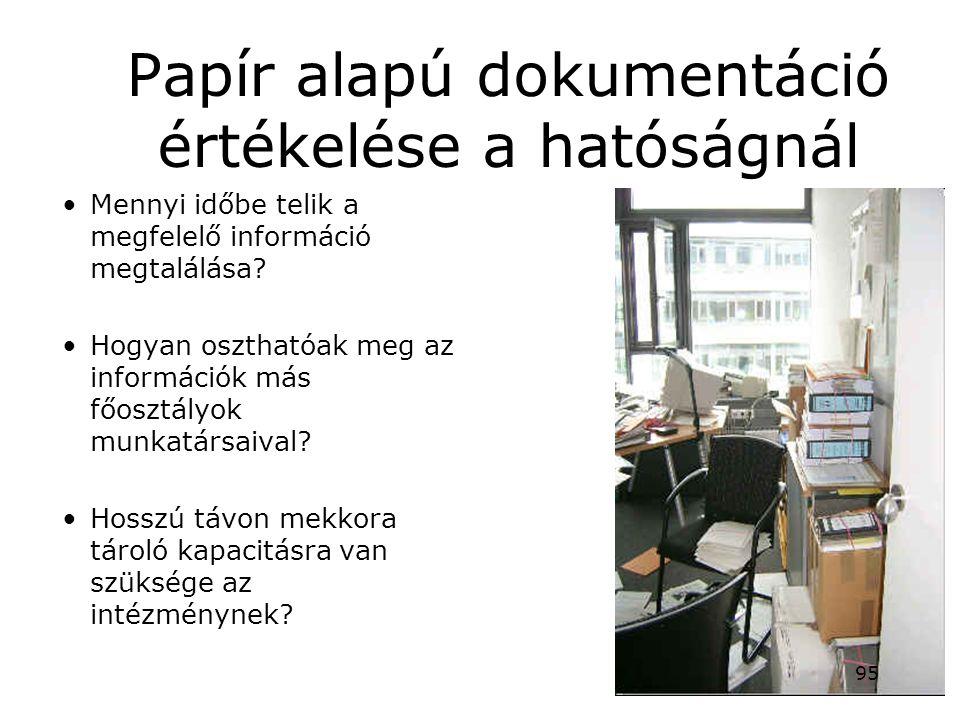Papír alapú dokumentáció értékelése a hatóságnál