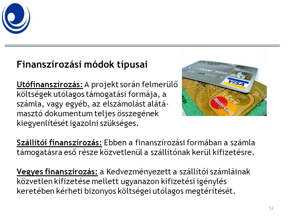 Finanszírozási módok típusai