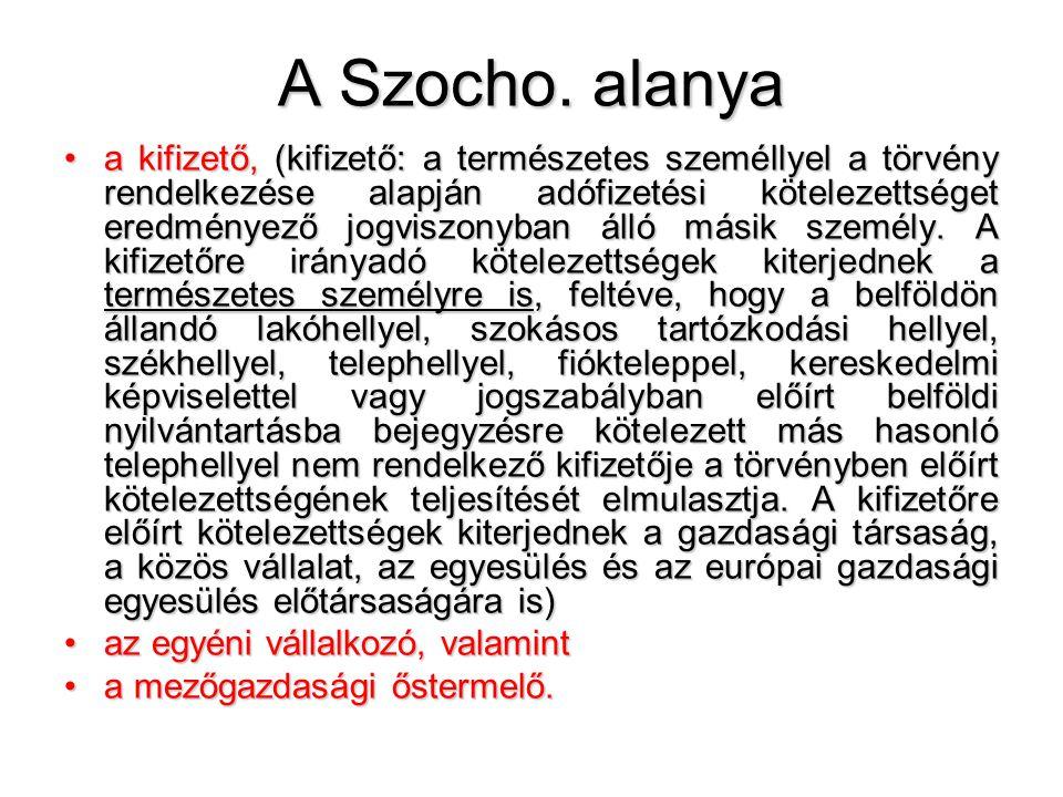 A Szocho. alanya