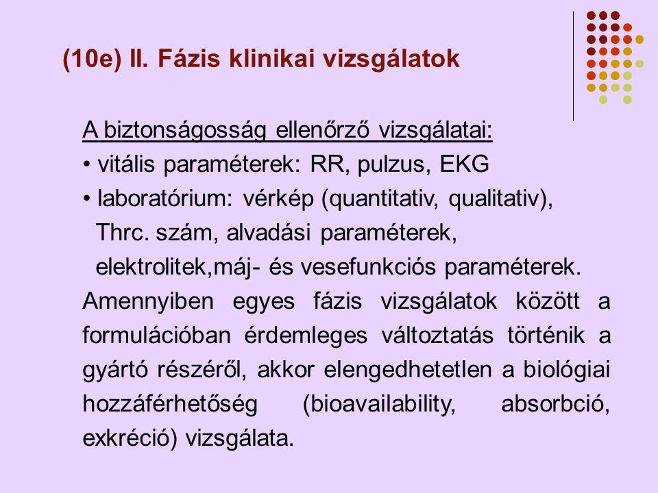 (10e) II. Fázis klinikai vizsgálatok