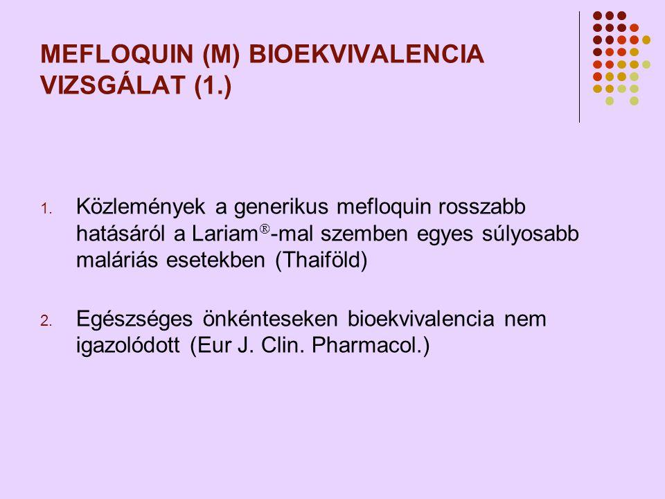 MEFLOQUIN (M) BIOEKVIVALENCIA VIZSGÁLAT (1.)