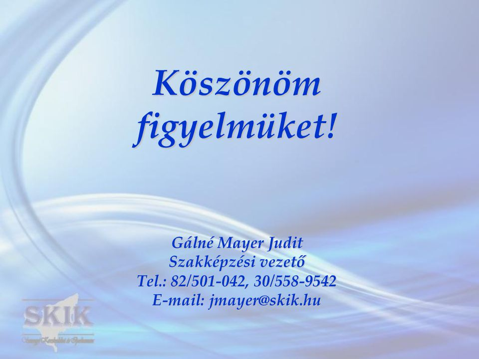 E-mail: jmayer@skik.hu