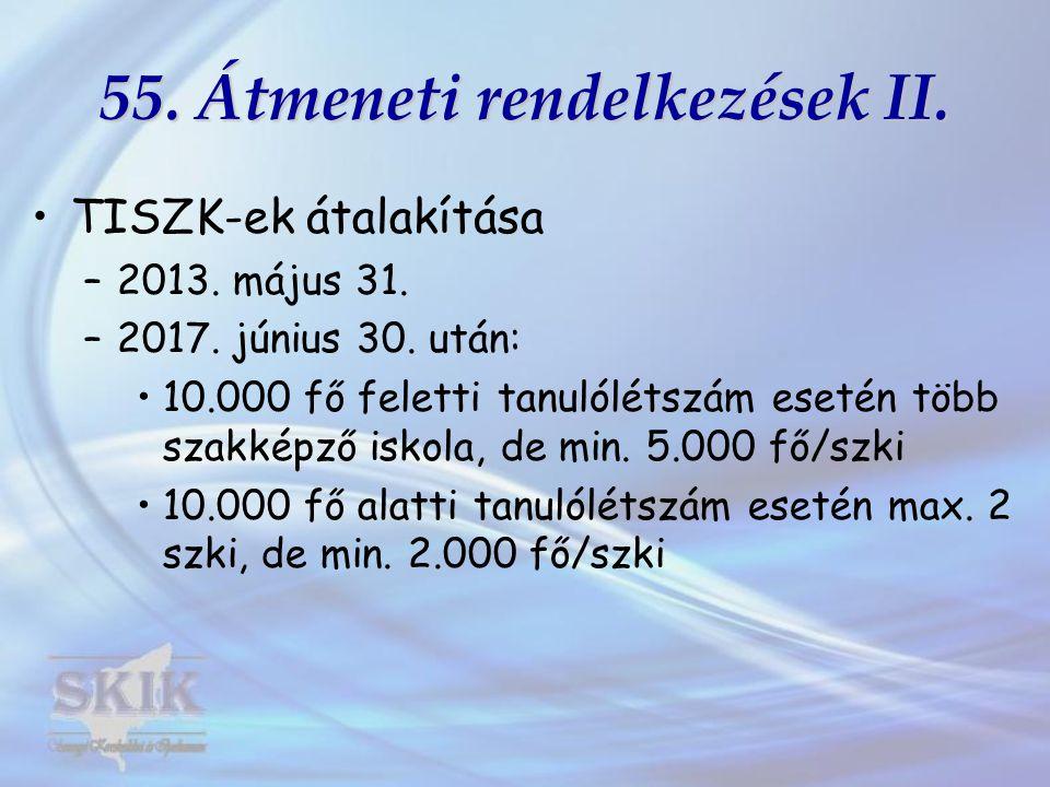 55. Átmeneti rendelkezések II.
