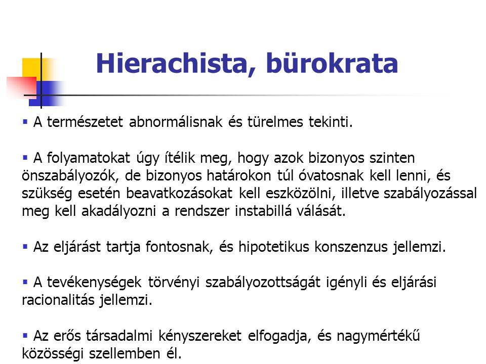 Hierachista, bürokrata