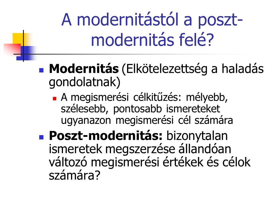A modernitástól a poszt-modernitás felé