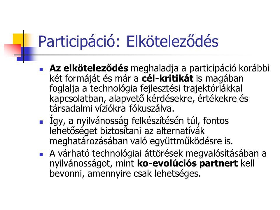 Participáció: Elköteleződés