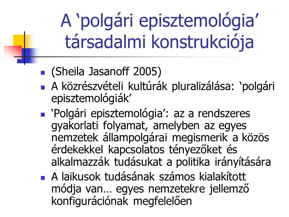 A 'polgári episztemológia' társadalmi konstrukciója
